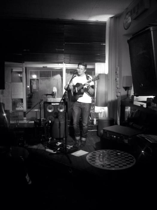 James Shead playing a humble and intimate acoustic gig